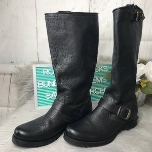 """Frye """"Veronica"""" Black Leather Boot size 8"""